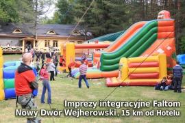 Imprezy integracyjne przy Leśnej Karczmie Faltom w Nowym Dworze Wejherowski, 15 km od Hotelu - Hotel Faltom