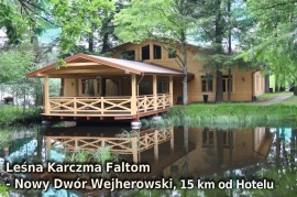 Leśna Karczma Faltom w Nowym Dworze Wejherowskim, 15 km od Hotelu - Hotel Faltom