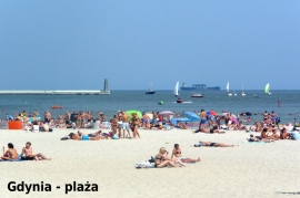 Gdynia - plaża (13 km od Hotelu) - Hotel Faltom