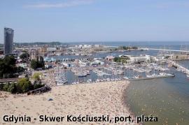 Gdynia - Skwer Kościuszki, port, plaża ( ok. 13 km od Hotelu) - Hotel Faltom
